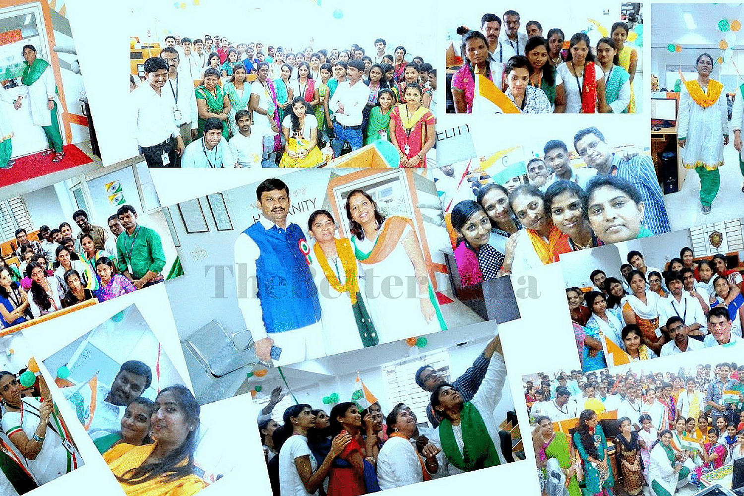 A collage that the Vindhya employees created of the Independence Day celebrations 2015