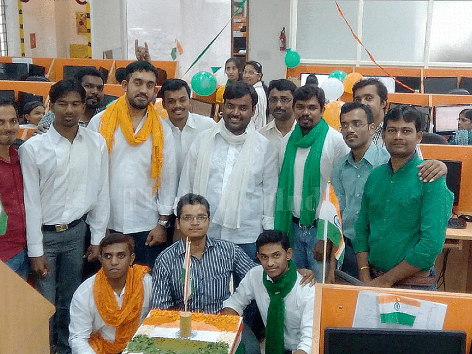 Some of the Vindhya team members celebrating Independence Day 2015