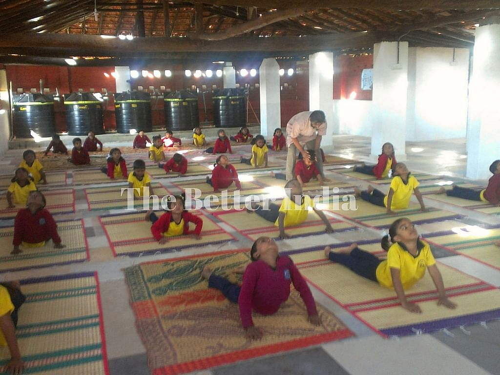 Students are also taught yoga regularly.