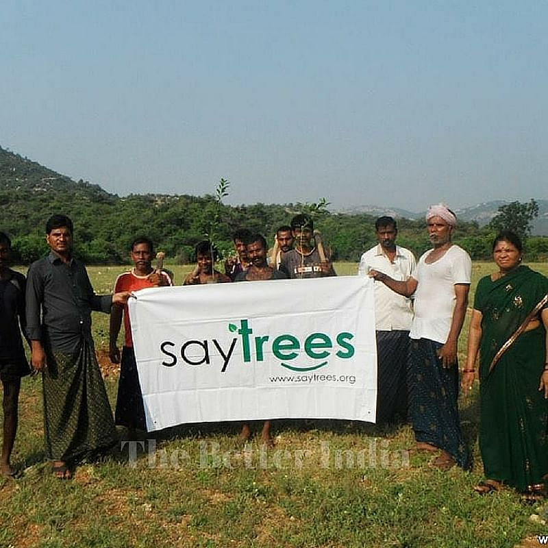 Say Trees was engages local community in tree plantation.
