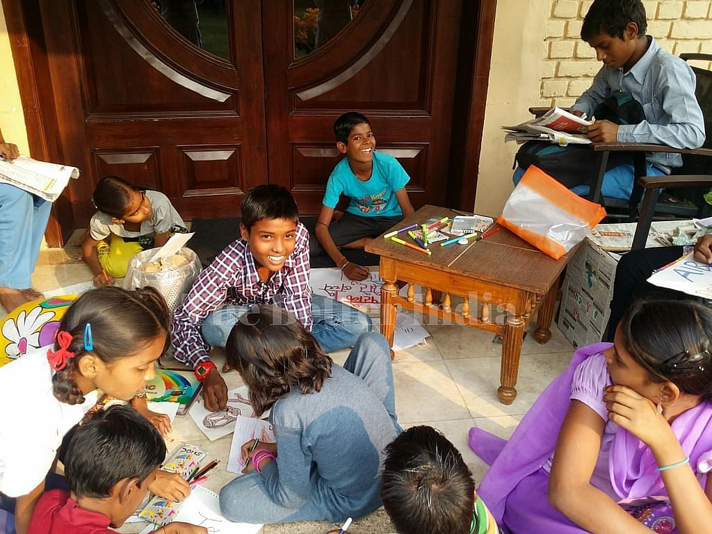 The slum kids have become empowered ad don't feel like beneficiaries anymore.