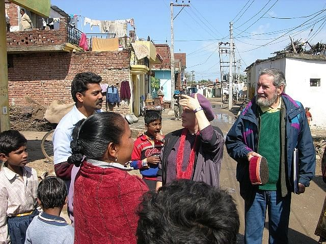 Frederick Shaw works with basti dwellers in Chandigarh