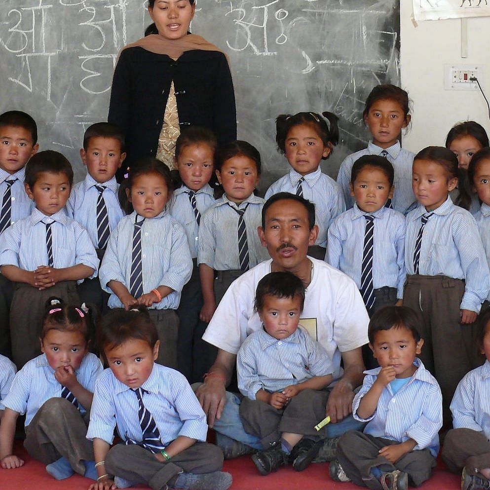 Tsewang's school now has many students who attend the school on a regular basis.