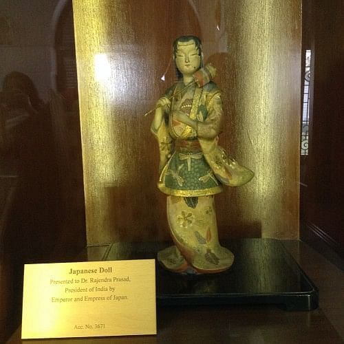 Believed to be the first gift to the President of India from the Emperor and Empress of Japan