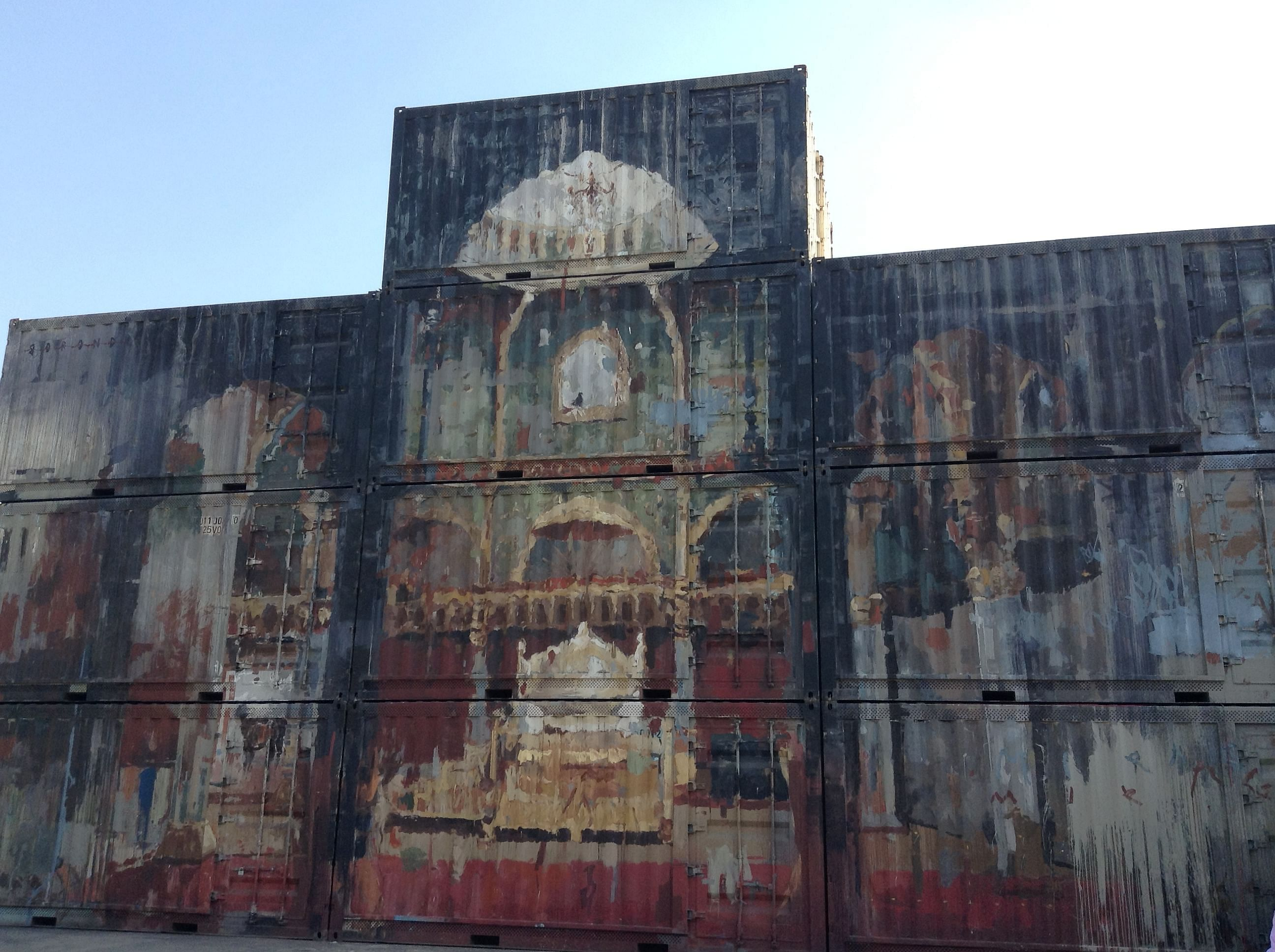 The Mysore Palace painted on 10 containers