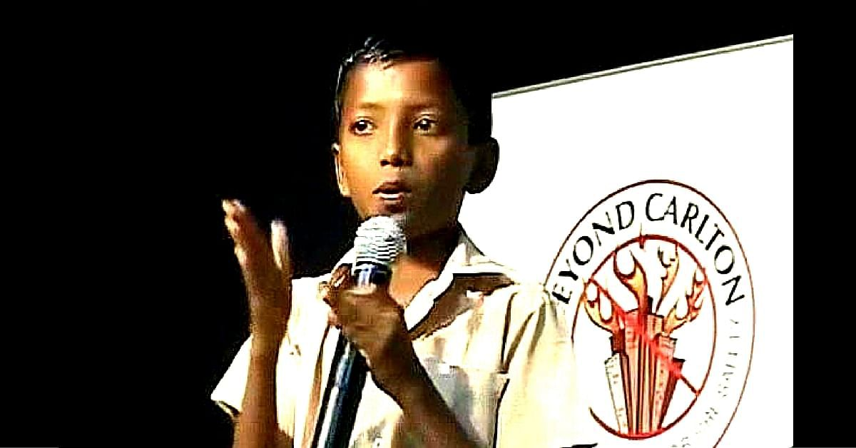 13-year-old Jayakumar from Sivakasi invented a low-cost fire extinguisher