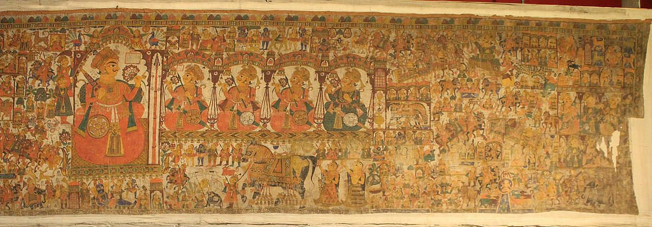 Phad depicting a tale about Pabuji