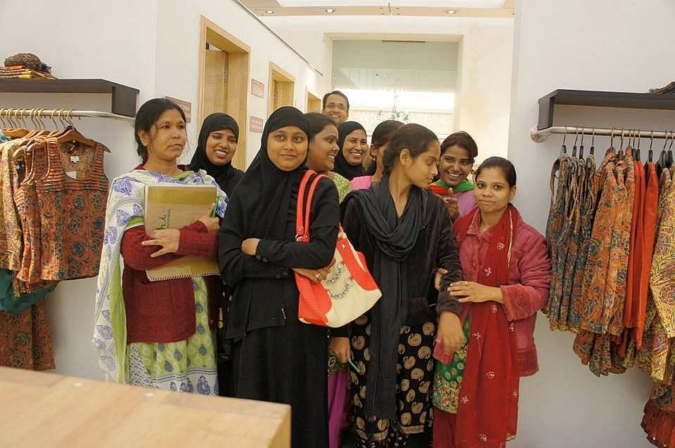 Whereas the majority of women chikan karigars don't have the autonomy to either design or negotiate for wages, the ones at Sangraha have become the masters of their own designs and destinies.