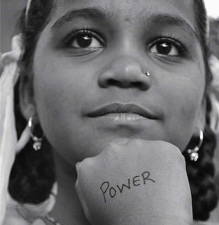 Power: Girls don't decide to hate their bodies, we teach them to. When girls hold back due to beauty related anxieties, our society misses out. These fiercely intelligent young girls defined themselves with words like strong, fire, power, smile, beautiful. The most striking quality is that they are completely unafraid and beyond inhibitions.