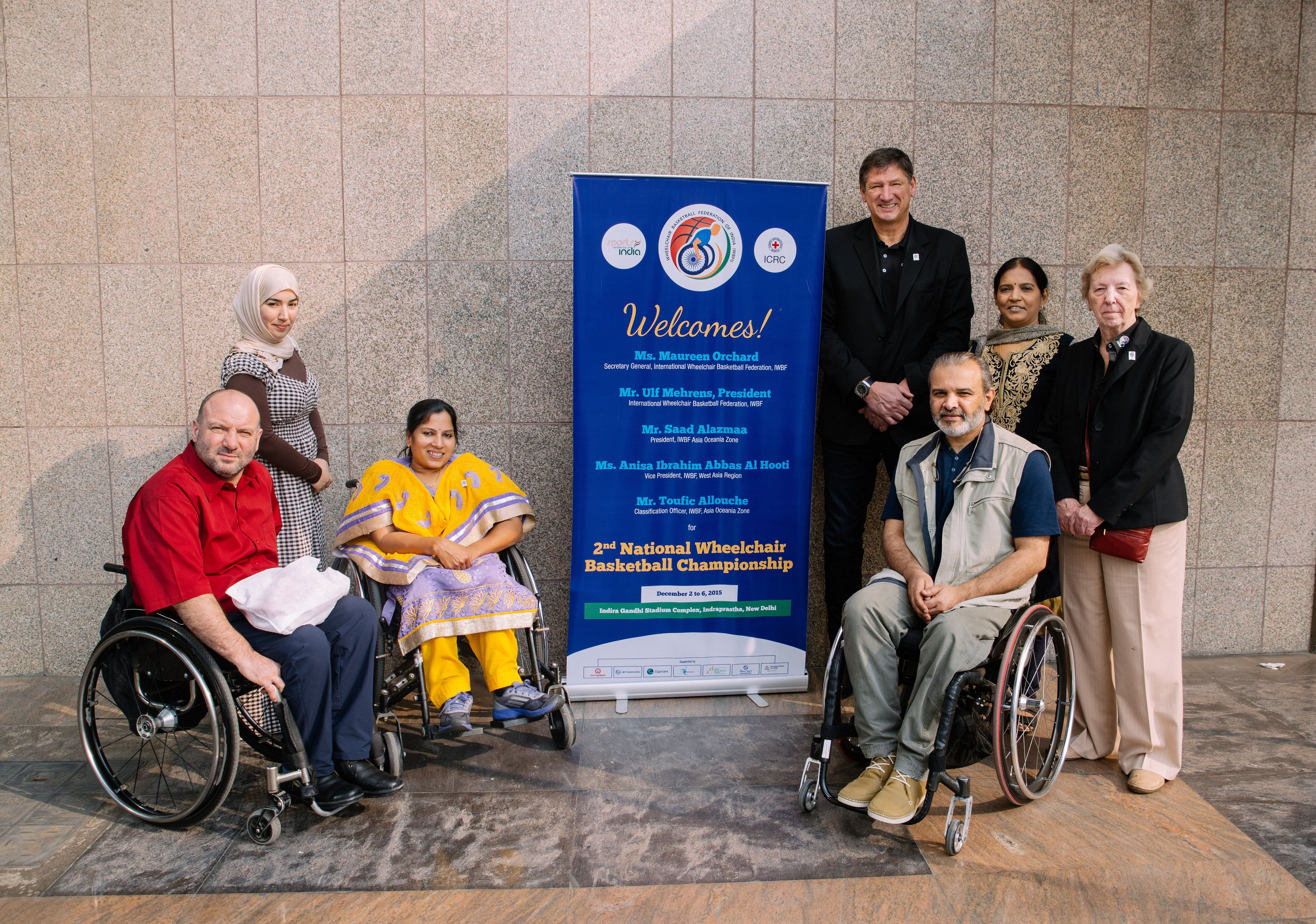 The Wheelchair Basketball Community at the Second National tournament, held at Delhi in December 2015.