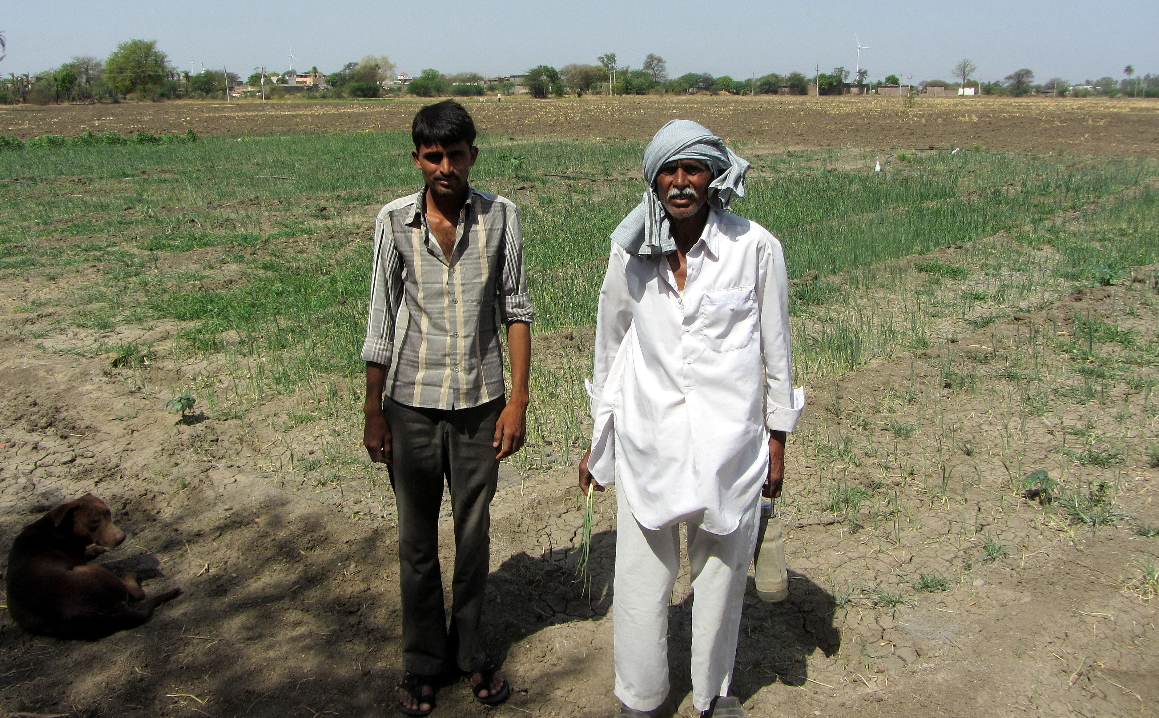Khuman Singh and his son Mukesh Singh from Harnawada, who claimed they could go in for winter crops only because of farm ponds.