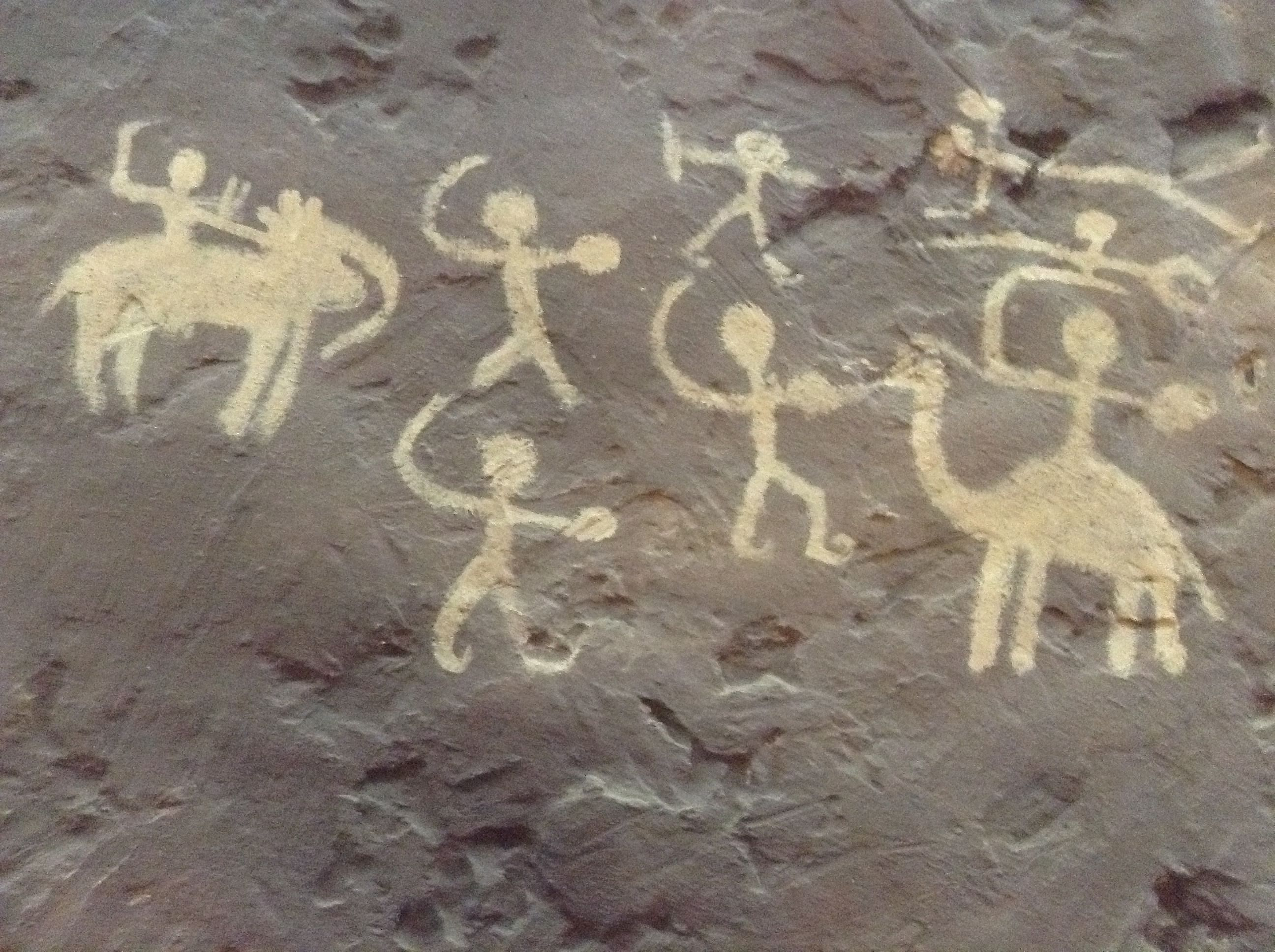 An example of rock art created by the Early Man