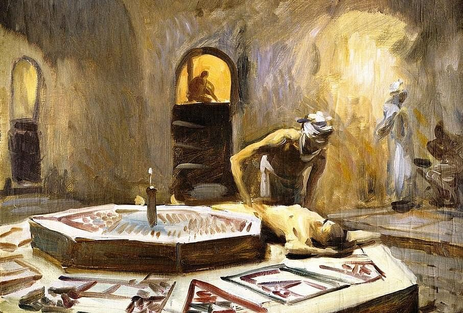 spa-painting-4-John-Singer-Sargent-Massage-in-a-Bath-House