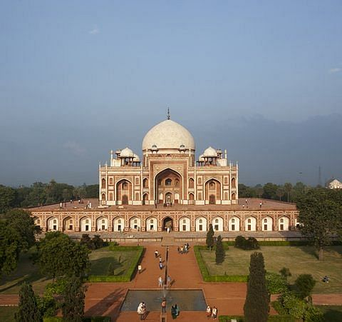Humayun's Tomb, and its well laid gardens.