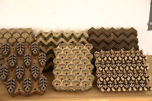 Bagru Hand Blocks, alongwith floral motifs they also have geometric patterns