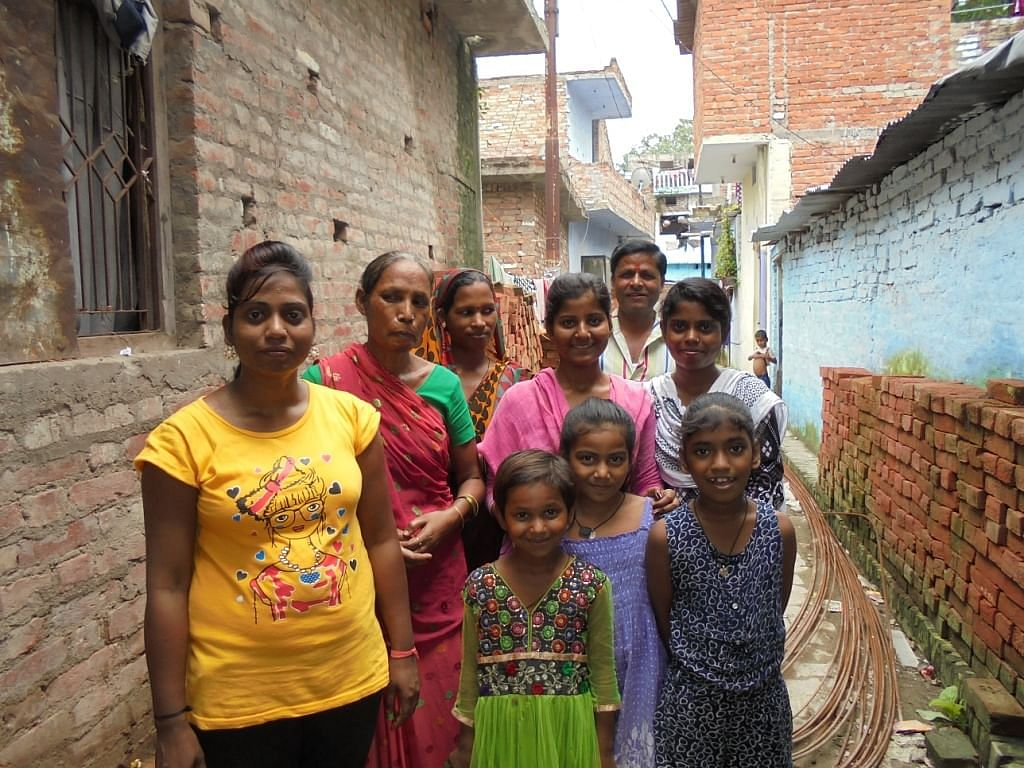 Palak with her vigilance group of 25