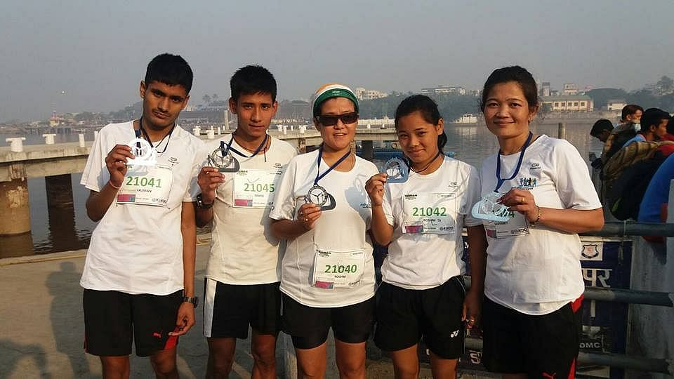 Roshni with some of the runners she has helped train