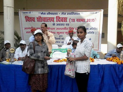 Kiron Srivastava, 19, from Shivraj Singh ka Purva has not only motivated 200 of the 260 households in her neighourhood to avail of government subsidy for toilet construction she has also submitted an application for building a sewer line.