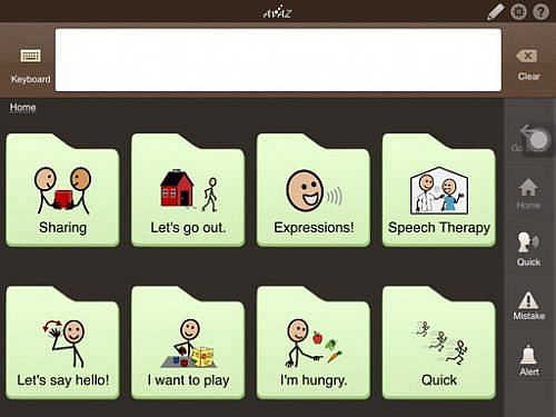 AAC devices for children with autism