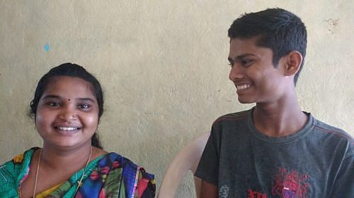 Shridevi Kamble (left) has become an important presence in Kashinath's life