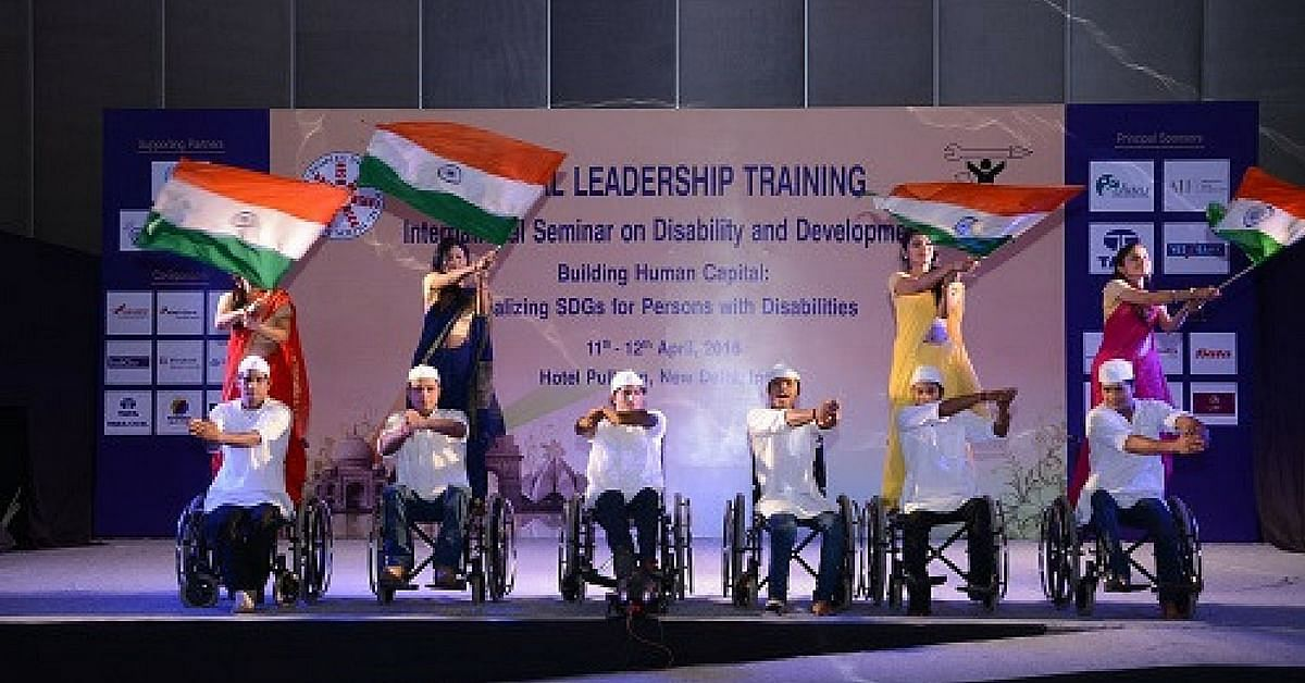 At an event organized by NCPEDP earlier this year. Courtesy: NCPEDP