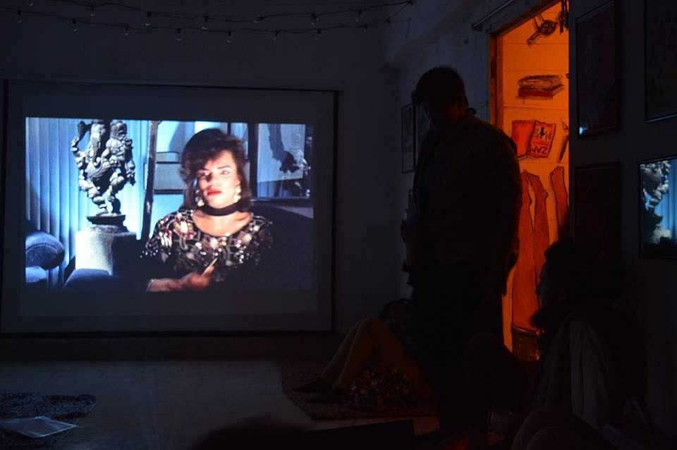 A film screening at Amra Odbhuth