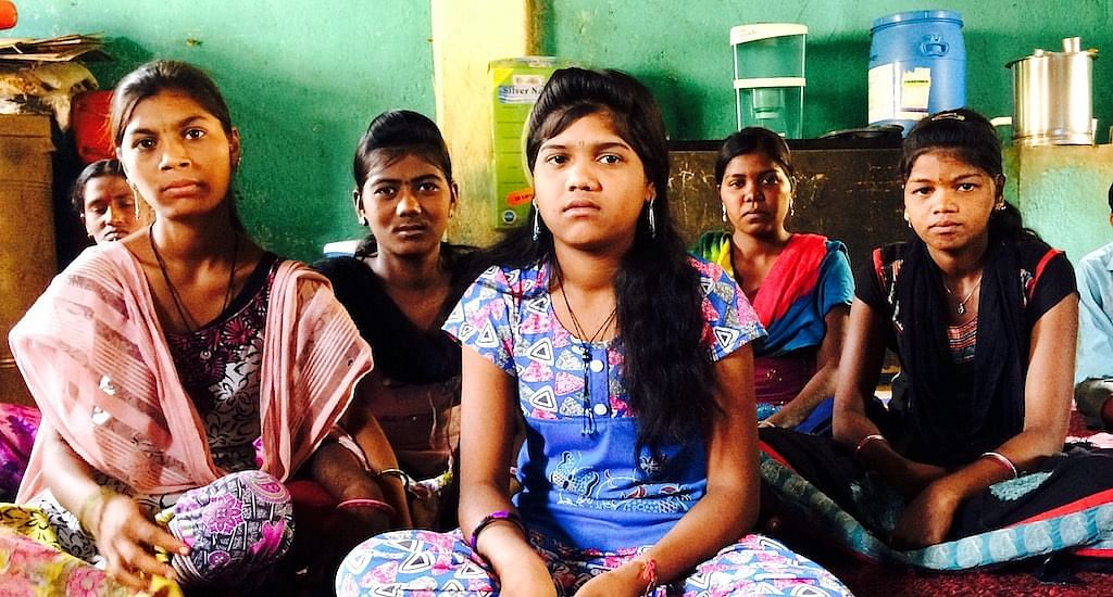 Young girls of Shivali village in Mokhada are saying no to an early marriage. (Photo by Nidhi Jamwal)